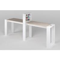 """Двухместный маникюрный стол """"Matrix"""" с подставкой для лаков"""